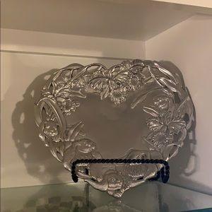 Arthur Court Bunny Collection Heart Platter